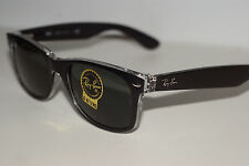 RAYBAN  SUNGLASSES   2132  NEW  WAYFARER  BLACK  CRYSTAL  6052   55MM EYE
