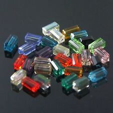 80pcs Swarovski 4x4x8mm Cuboid Sparkling Crystal bead A Mixed colors