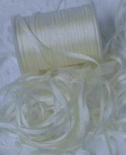 EMBROIDERY RIBBON 100%PURE SILK  NAT/WHITE COLOR  2MM 50 YD SPOOL