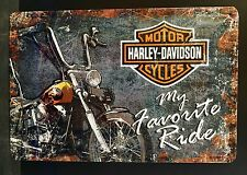 Harley-Davidson My Favorite Ride Garage - Embossed  Sign Wall Decor 30x20 Cm