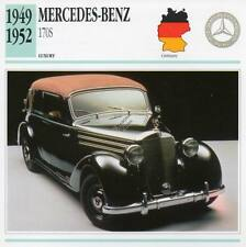1949-1952 MERCEDES BENZ 170S Classic Car Photograph / Information Maxi Card