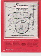 VINTAGE AD SHEET #2255 - SLINGERLAND ACRYLIC PHANTOM OUTFIT DRUMS