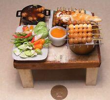 Pronto per l'estate barbecue insalata e Pesci Giardino Di Casa delle Bambole Accessorio Food BBQ