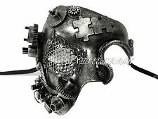 Steampunk One Eye Phantom Half Face Masquerade Mask Custom Prom Party Mask