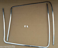VW PASSAT B1 73-81 WINDSCREEN WINDOW GLASS CHROME TRIM STRIPS