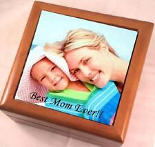 CUSTOM PERSONALIZED PHOTO KEEPSAKE / JEWELRY BOX - MAKES A GREAT GIFT