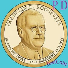 2014 P&D FRANKLIN ROOSEVELT PRESIDENTIAL DOLLARS SET FROM MINT ROLL UNCIRCULATED