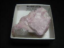 RUBELITA Rubellite - Alvarroes SeixoAmarelo -CAJITA- PORTUGUESE MINERAL BOX 4x4