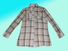 moderne lange Damenbluse- Bluse- Tunika knitterlook Gr. M/L