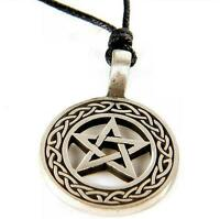 PEWTER PENTACLE PENDANT (B) Wicca/Pagan/Occult/Gothic