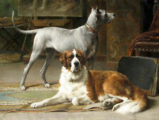 Art Oil painting Otto Eerelman - The Artist's Studio with dogs no framed canvas