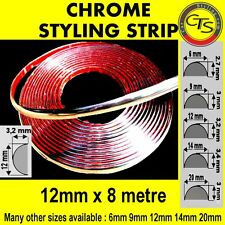 12mm CHROME CAR STRIP MOULDING TRIM ADHESIVE VW JETTA LUPO SHARAN TOURAN VENTO