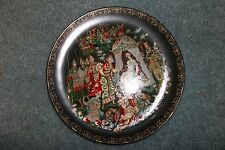Palekh 1989 USSR Russian Hand Painted Lacquer Plate Палех