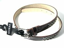 Guess Women's  Belt Brown Small Silver Buckle New NWT $48