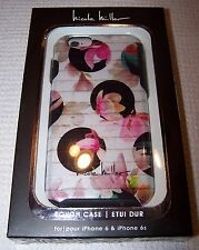Nicole Miller FLORAL CIRCLES Hardshell Case for iPhone 6/6s Shimmer Finish - NWT