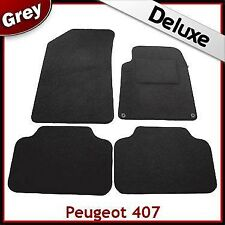 Peugeot 407 Coupe 2004 - 2007 2008 2009 2010 Tailored LUXURY 1300g Car Mats GREY