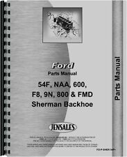 Ford Sherman 54F Backhoe Attachment Parts Manual