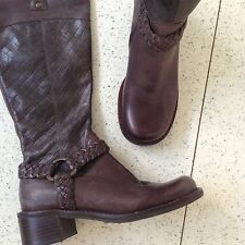 Faith Uk3 Eur36 Real Leather Boots Brown Designer Chocolate New Chelsea Flat