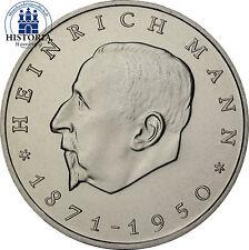 DDR 20 Mark 1971 bfr. Zum 100. Geburtstag von Heinrich Mann in Münzkapsel