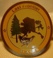 Alaska Last Frontier new hiking medallion shield badge stocknagel G4943