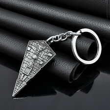 Fashion Silver Star Wars Star Destroyer Metal Key Ring Keyfob Keyring Keychain