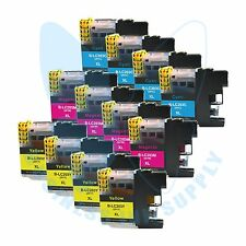 12 CL LC203XL LC201 compatible Ink Cartridges for Brother printers with NEW CHIP