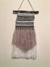 Handmade Weaving Wall Dream Catcher Boho Decor Nursery Teepee Neutrals Tapestry
