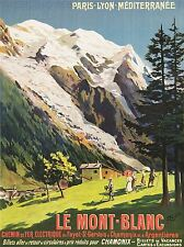 PRINT POSTER TRAVEL RAIL TRAIN MONT BLANC FRENCH ALPS RAILWAY FRANCE NOFL1355