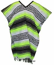 Traditional Mexican Poncho - NEON - ONE SIZE FITS ALL Blanket Serape Gaban