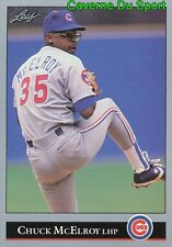 158   CHUCK MCELROY    CHICAGO CUBS  BASEBALL CARD LEAF 1992