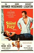 THE SOUND AND THE FURY Movie POSTER 27x40 Yul Brynner Joanne Woodward Margaret