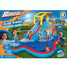 Banzai Water Splash Pool Sprint Racing Slip N Double Slide Summer Garden Fun Toy