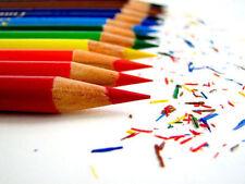 Bambini MINI MATITE COLORATE PASTELLI 48x Set per la scuola arte disegno colori