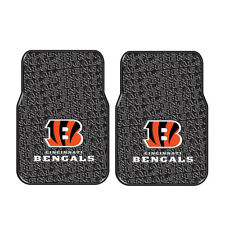 Brand New NFL Cincinnati Bengals Car Truck Front Rubber Floor Mats 2pcs Set