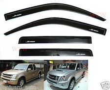 ISUZU DMAX HOLDEN RODEO RA 02-11 BLACK SMOKE WIND SHIELD AIR GUARD RAIN VISOR 03