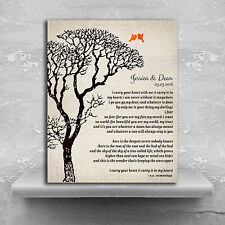 (LT-1301) Personalized EE Cummings Personalized Bare Tree Winter Wedding Vint...