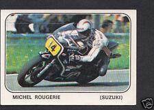 Panini sticker-moto sport 1979 autocollant no 137-michel rougerie-suzuki