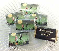 50 NIGHTMARE BEFORE CHRISTMAS PERSONALIZED MINI CANDY BAR WRAPPERS PARTY FAVORS