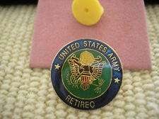 ARMY ENAMEL HAT PIN - UNITED STATES ARMY RETIRED