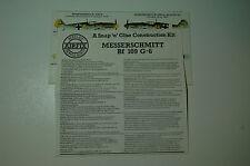1/72ème PLAN DE MONTAGE POUR MESSERSCHMITT BF 109 G-6  -  pour kit AIRFIX