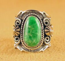 Navajo Sterling Silver Rare Gem Grade Natural Pixie Turquoise Ring Andy Cadman