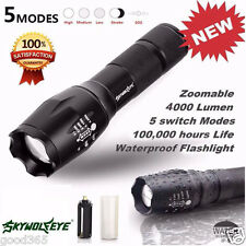 SkyWolfeye Tactical Lampe de poche LED G700 X800 Super Brillant Grade Militaire