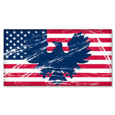 "US Flag American vintage eagle sticker decal 6"" x 3"""