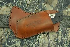 THUNDER BASIN BROWN LEFT CROSSDRAW SHEATH FOR RAT I AND OTHER FOLDING KNIVES!