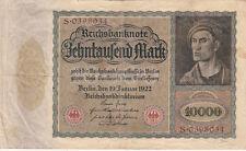 Billet banque ALLEMAGNE GERMANY 10000 M 1922 état voir scan 034