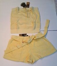Juicy Couture size M Medium Terry set Tube Top and Shorts