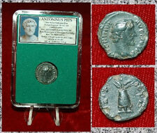 Ancient Roman Empire Coin Of ANTONINUS PIUS Limes Denarius Modius On Reverse