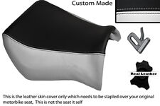 BLACK & WHITE CUSTOM FITS YAMAHA MT 03 06-13 FRONT LEATHER SEAT COVER
