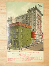 EARLY, UN-USED HOTEL MARTHA WASHINGTON,(FOR WOMEN GUEST ONLY) 29TH.ST. NEW YORK