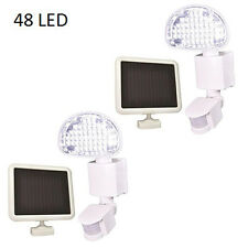 Two Pack Defiant 48 LED Solar Power Motion Security Light Outdoor